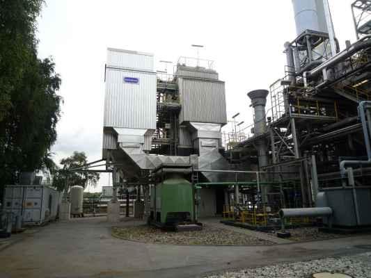 Wärme- und Schallisolierung an einer Elektrofilteranlage